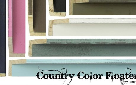 Country Color Floaters Moulding - Picture Frames & Moulding