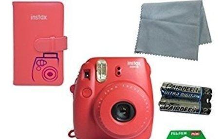 Amazon.com : Fujifilm Instax Mini 8 Instant Film Camera (Raspberry) 5 PC Deluxe Bundle Acc