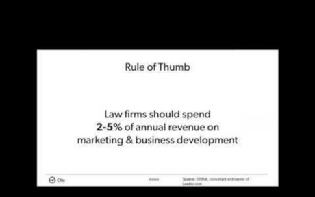 Dollars and Sense of Legal Marketing [LHLM Webinar]