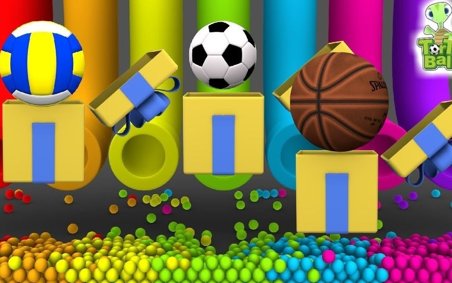 LEARN BALLS With Pipe Soccer ball basketball volleyball for children and kids | Torto Ball