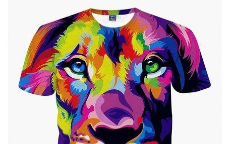 Men's Lion Vibrant Color 3D Printed T-Shirt