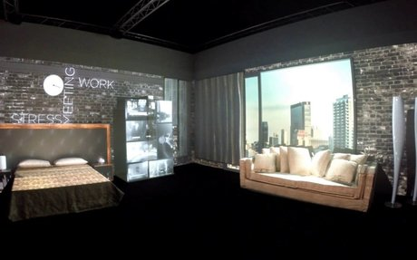 3D Room Video Mapping Projection - London Design Week (100%Design)
