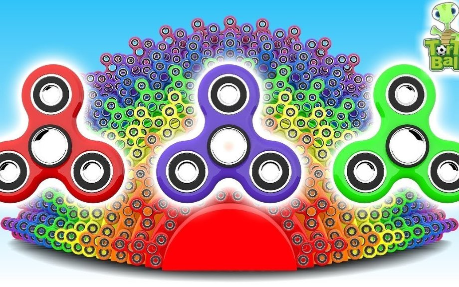 Colorful Rainbow Fidget Spinner | Learn colors For Children and Kids | Torto Ball