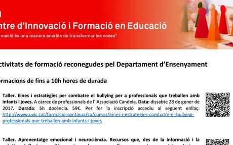 CIFE - Difusió Programa Formacions reconegudes pel Departament d'Educació