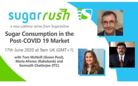 "Free Sugaronline webinar on ""Sugar Consumption in the Post-COVID19 Market""​"