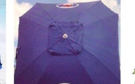 Heavy Duty Beach Umbrella - Best Wind Resistant and Sun Shade - Tackk