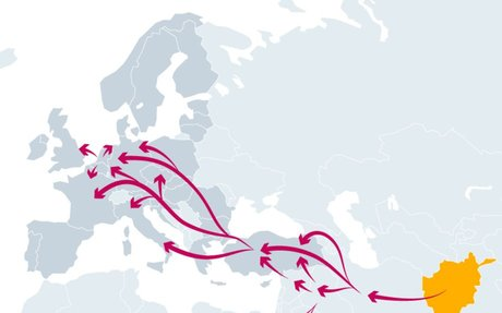 EMCDDA | Opioid trafficking routes from Asia to Europe
