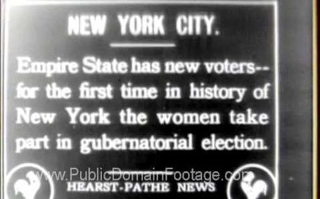 Women's Suffrage archival footage