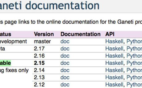 Ganeti documentation