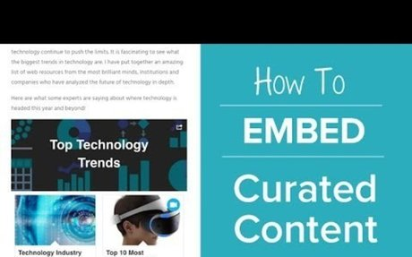 How to Embed Curated Content Onto a Website