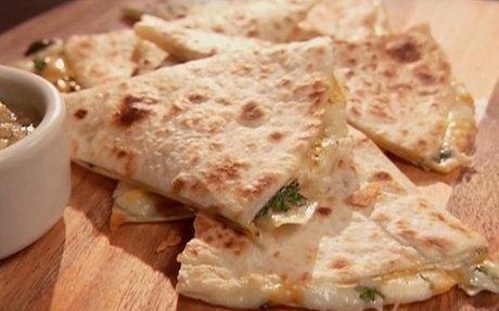 Three Cheese Quesadillas