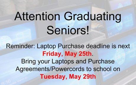 Graduating Senior Laptop Reminder