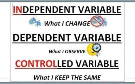 I.V. D.V. and Control Variable