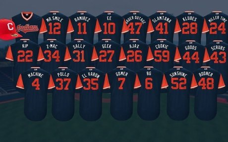 Vote: Which is your favorite Indians Players Weekend nickname?