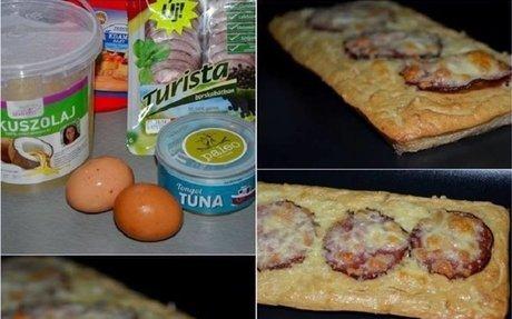 tonhal alapú pizza