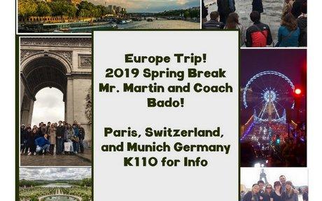 Europe Trip 2019- Martin/Bado