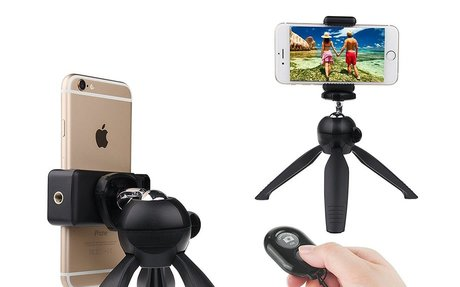 Bluetooth Remote Control and Stand for Smartphones
