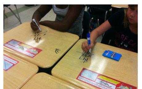 Spark Student Motivation: Write on the Desks!