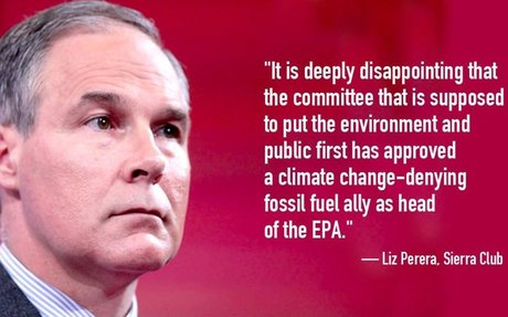 Groups Denounce GOP's Move to Force Through Trump's EPA Pick