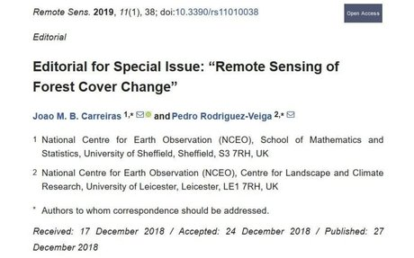 """Editorial for special issue: """"Remote sensing of forest cover change"""""""