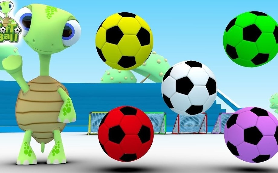 BALLS with Turtle Playing Soccer Ball learning colors For Kids | TorTo Ball Channel Offici