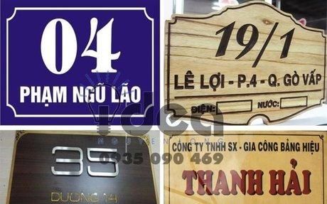 Bảng số nhà, làm bảng số nhà mica, inox - Thiết kế in ấn bảng hiệu