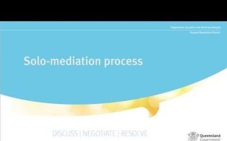 Dispute Resolution Branch - Solo mediation process