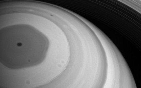 Saturn's Hexagon: Cassini's Perspective On The Planet's Pointy Polar Vortex
