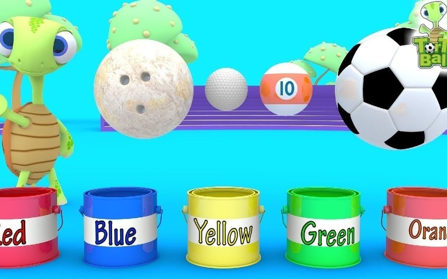 LEARN BALLS - Turtle Painted Bowling Ball Soccer Ball Golf Ball For Children and Kids Tort