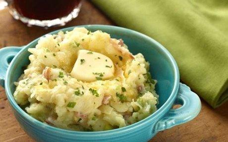 Colcannon (an Irish mashed potato like side dish)
