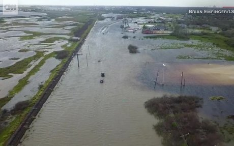 Drone footage shows Harvey's destruction - CNN Video