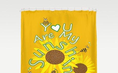 Sunshine And Sunflowers Shower Curtain