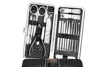 Amazon.com : Teamkio Manicure Pedicure Set Nail Clippers Travel Hygiene Stainless Steel Pr