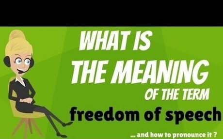 What is FREEDOM OF SPEECH? What does FREEDOM OF SPEECH mean? FREEDOM of SPEECH definition
