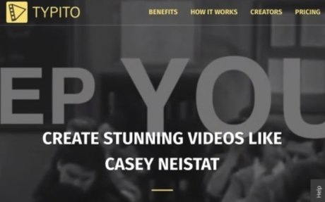 Typito: Beautiful text and graphics for your videos