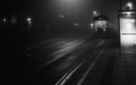 Mysterious Black and White Urban Scenes in the Fog