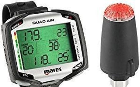 Mares Quad Air Dive Computer w/ LED TRANSMITTER: Sports & Outdoors