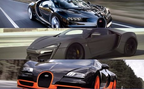 Bugattis and Lykan Hypersports