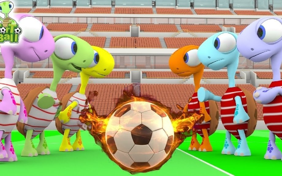Best Soccer Ball Players Funny With Turtles For Children and Kids | Torto Ball