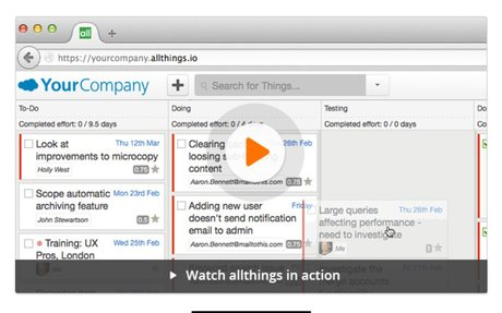 Manage teams, tasks and time – allthings