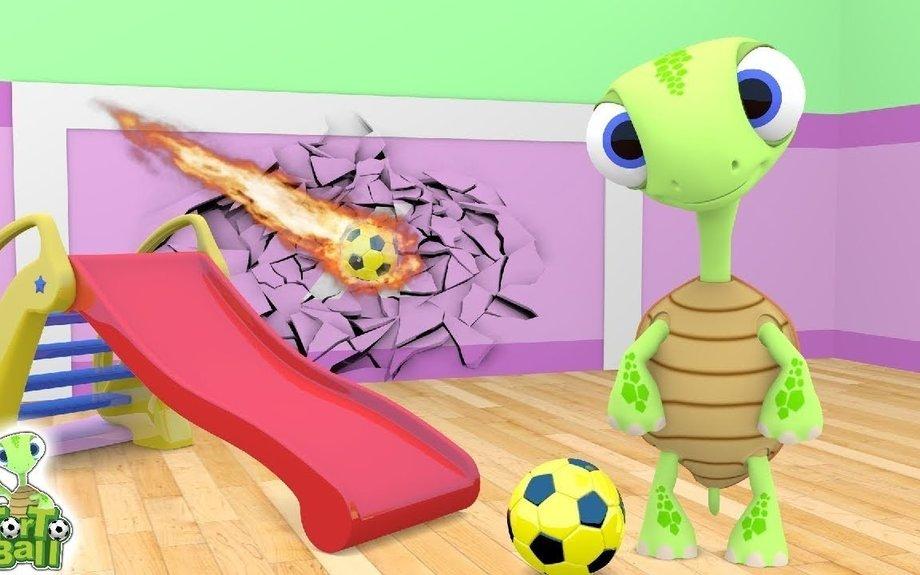 SLIDE BALLS Learn Colors Funny Turtles Kick Soccer Ball For Children and Kids | Torto Ball
