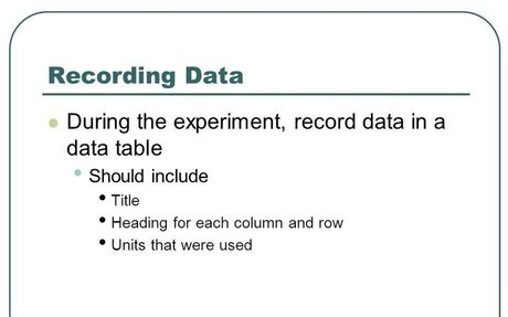 Step 4: Record Data