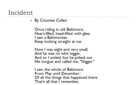 Incident by Countee Cullen