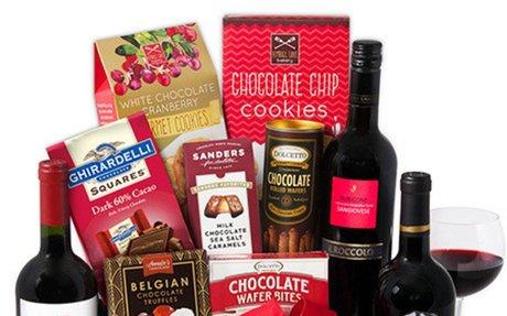 Red Wine & Dark Chocolate Gift Basket - Gourmet Gift Baskets