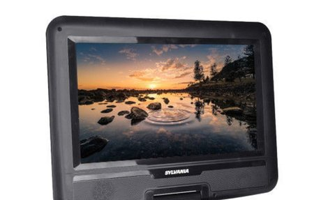 "Sylvania 10.1"" 180° Swivel Widescreen Portable DVD Player with USB Port SDVD1032 