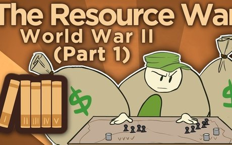 The resources war during World War 2 between allies and Germany.