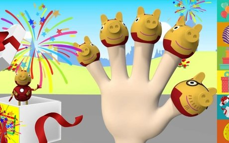 Peppa Pig Iron Man 3D Finger Family by Surprise Kids Nursery Rhymes