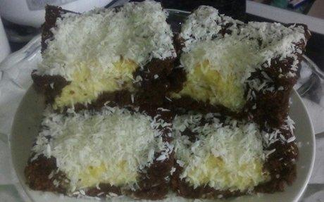 Kakaós kókuszos kevert süti