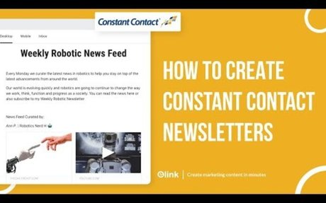 How to Create Constant Contact Email Newsletters in Minutes