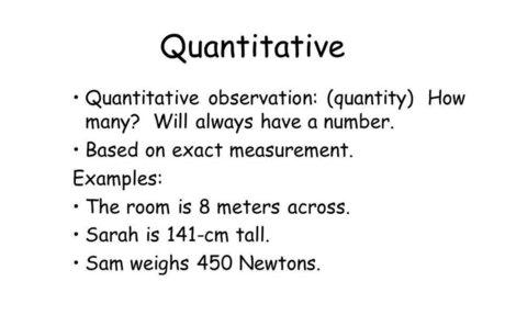 Observation (quantitative)